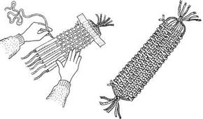 Soda Straw Loom Bookmark Christmas Activity