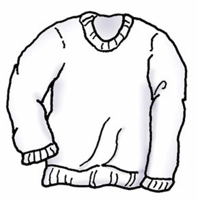 Make sure your white sweatshirt is clean, toasty and warm.