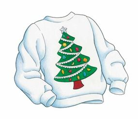 Your Christmas tree shirt is ready to wear!
