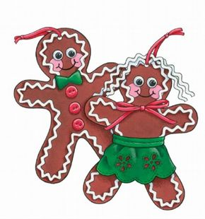 Learn how to make Gingerbread Kid Ornaments. See more Christmas pictures.