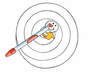 The face of the snowman is drawn in the center of the spiral and folded upwards.