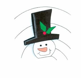 Give the snowman's hat a festive touch with some holly!