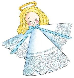 A homemade doily angel makes an extra-special Christmas gift.