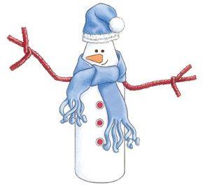 Create a milk bottle snowman for an