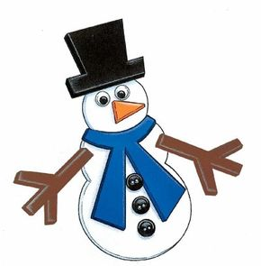 Creating this super snowman magnet is fun and easy!