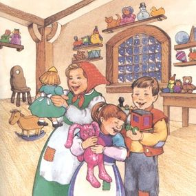 Little Karen, Lisa, and Peter fell in love with their brand new toys.