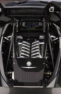 The ME's all-aluminum, quad-turbo, 6.0-liter V-12