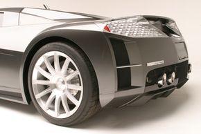 Left-rear tire detail
