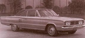 This 1966 Dodge Coronet 500 hardtop was a testbed for a sixth-generation turbine engine.