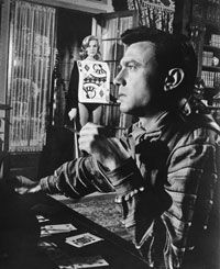 """Laurence Harvey as Raymond Shaw, a former POW who's been brainwashed into an unwitting assassin in the 1962 thriller, """"The Manchurian Candidate."""""""