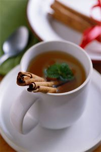 In the West, cinnamon is most often used in sweet dishes and hot drinks, such as tea.