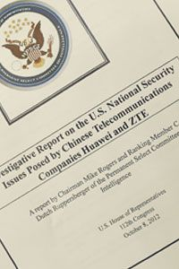 A House Intelligence Committee report released on Oct. 8, 2012 includes information on Huawei, a Chinese telecommunications equipment maker that members of the House Permanent Select Committee on Intelligence see as a threat to national security.