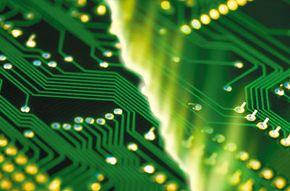 This circuit board contains many individual circuits.