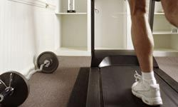 Break up your boring workout with different types of exercises, such as running on the treadmill, then lifting weights.