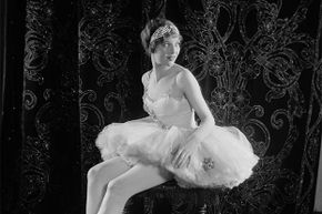 Loretta Young was only 14 when she played a circus performer in 'Laugh, Clown, Laugh.' Hilda Nelson was her double on the tightrope.