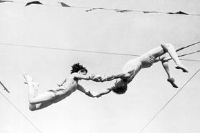 Ernestine Clarke (not shown) was a bareback rider and trapeze artist in the 1940s; she was inducted into the International Circus Hall of Fame in 1967.