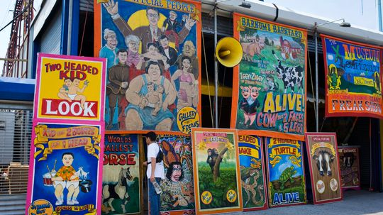 Why did circuses have freak shows?