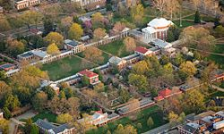The University of Virginia gives Charlottesville the small-town feel many college campuses provide.