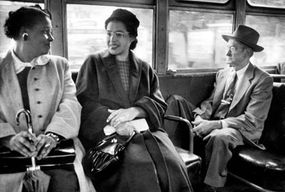 Rosa Parks, center, one of the most famous figures from the civil rights movement, helped spark the Montgomery Bus Boycott.