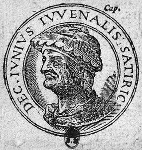 engraving of ancient roman latin poet juvenal