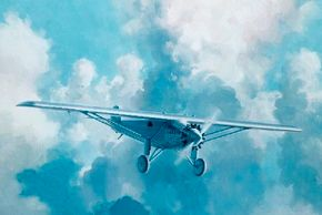 The excitement and infinite promise of flight during the Golden Age was exemplified by the Ryan NYP Spirit of St. Louis, piloted famously in 1927 by Charles Lindbergh.