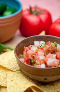 Tomatoes are packed with nutrients, so scoop up the salsa and pico de gallo!