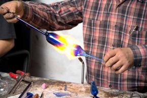 Glass blowing looks like a pretty dangerous affair. Imagine there was a time when it was sold as a children's activity.