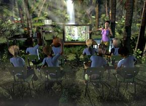 Classroom video conferencing brings the rainforest to the students in this lesson.