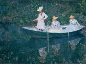 The Boat at Giverny by Claude Monet is an oil on canvas (38-5/8x51-5/8 inches) housed at the Musée d'Orsay in Paris.
