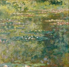 Waterlily Pond by Claude Monet is an oil on canvas (35-3/8x36-1/4 inches) housed at the Musée des Beaux-Arts in Caen, France.