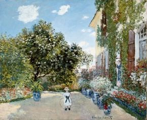 Claude Monet painted The Artist's House at in 1873. See more pictures of Monet paintings.
