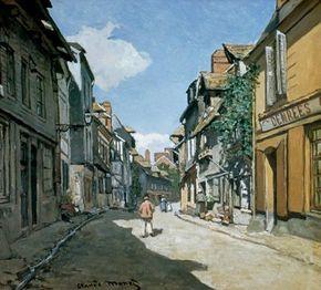Claude Monet's Rue de la Bavolle, Honfleur ( inches Museum of Fine Arts in Boston.
