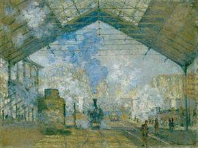 Claude Monet's La Gare Saint-Lazare (29-1/2x39-3/8