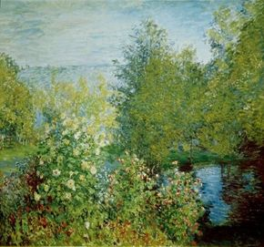 Claude Monet's Corner of the Garden at Montgeron