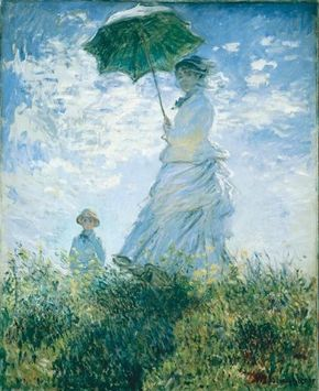 Claude Monet's Woman with a Parasol -- Madame