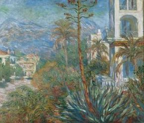 Villas in Bordighera, Italy by Claude Monet is an oil on canvas (45-1/4x51-1/4 inches) housed at the Musée d'Orsay in Paris.