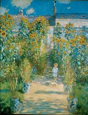 The Artist's Garden at Vétheuil by Claude Monet is an oil on canvas (59-7/8x47-5/8 inches) housed at the National Gallery of Art in Washington, D.C.