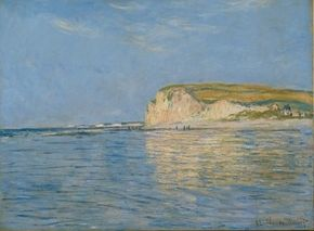 Claude Monet's Low Tide at Pourville near Dieppe is an oil on canvas (24x32 inches) housed at The Cleveland Museum of Art.