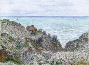 Cabin of the Customs Watch by Claude Monet                              is an oil on canvas (24x32-1/4 inches) housed at                                            The Metropolitan Museum of Art in New York.