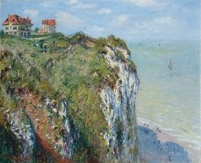 The Cliff at Dieppe by Claude Monet is an oil on canvas (26x32-1/4 inches) housed at Kunsthaus Zürich in Switzerland