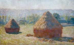 Haystacks: End of Summer by Claude Monet lighting on the subject. See more pictures of Monet's paintings.
