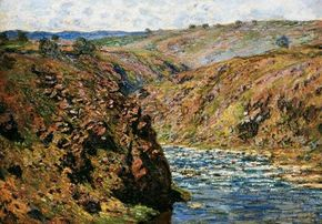 Valley of the Creuse (Sunlight Effect) by Claude Monet is an oil on canvas (25-5/8 x 36-1/4 inches) and is housed at the Museum of Fine Arts, Boston.