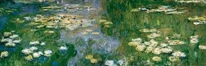Water Lily Pond by Claude Monet is an oil on canvas (78-3/4 x 236-1/4 inches) housed at Carnegie Museum of Art, Pittsburgh.