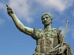 Octavius battled with Mark Antony for command of Rome.