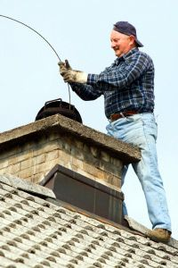 """Is this chimney sweep humming """"Chim Chim Cher-ee"""" to himself while he cleans?"""