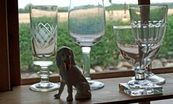 Antique glass needs a gentle touch.
