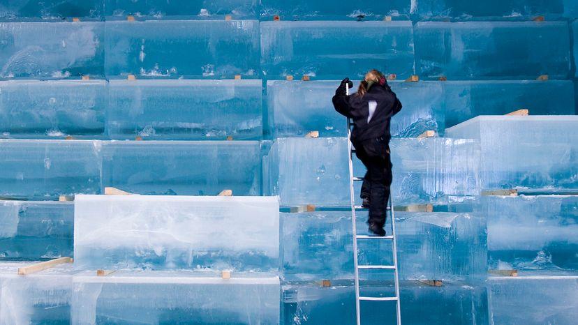 ice storage Icehotel Sweden