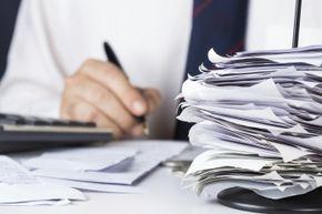 paperwork and bills