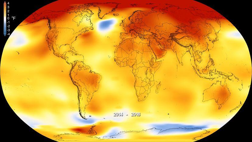 2018 temperature map