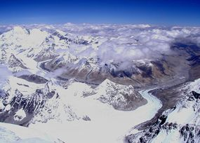 Tibet as seen from the North Summit